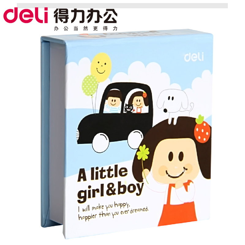 Deli 7703 cute cartoon student paper notes note paper notes this article notes notes posted 68 * 73mm