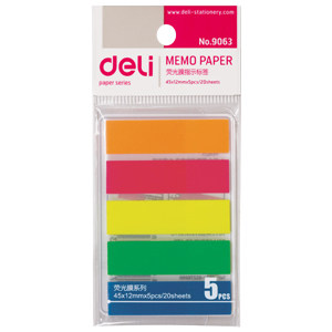 Deli 9063 pepsi stickers 5 color fluorescent label instructions fluorescent fluorescent stickers sticky classification posts