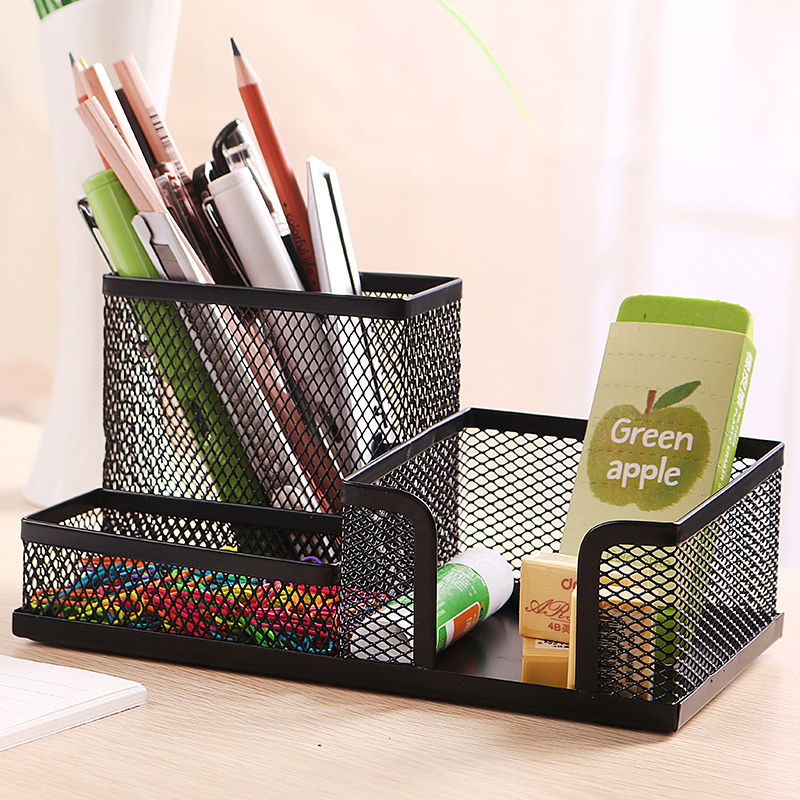 Deli 9175 reticularis textured combination multifunction pen creative fashion office desktop pen holder office supplies