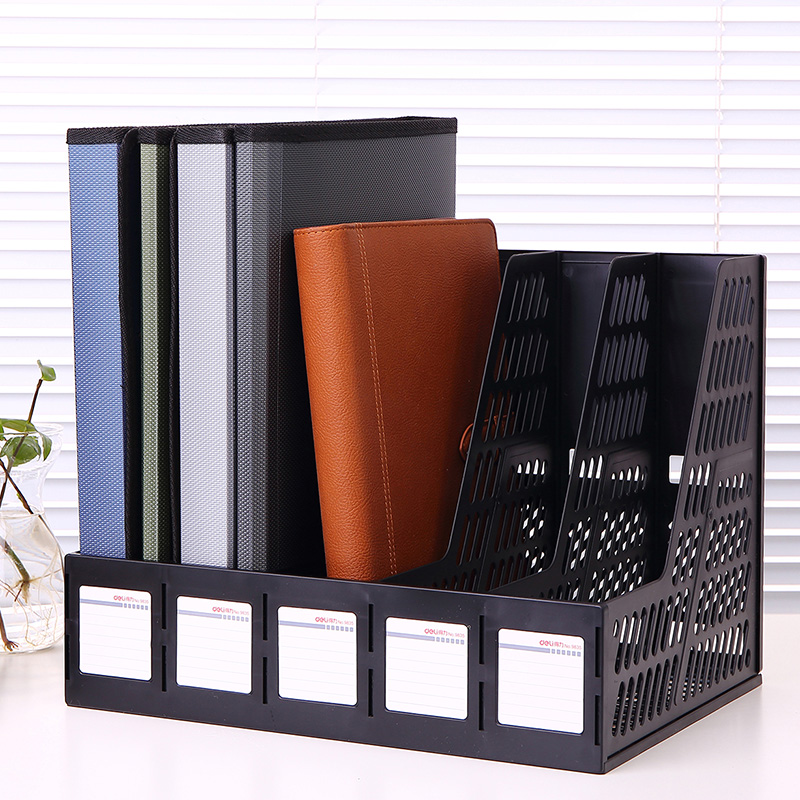 Deli 9835 five column file basket file column file box file box file frame data frame document holder