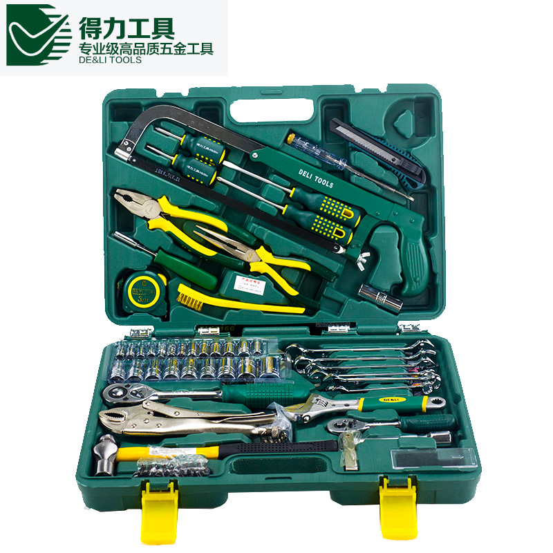 Deli manual upscale hardware tool set 79 sets of machine repair tool kit home kit combination sets