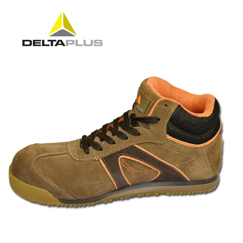 Delta high help shoes men smashing anti puncture safety shoes breathable paragraph antistatic safety shoes lightweight wearable