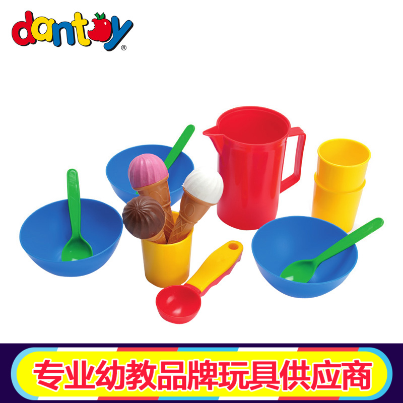Denmark dantoy imported children's play house toys simulation kitchen cooking cooking house ice cream suit