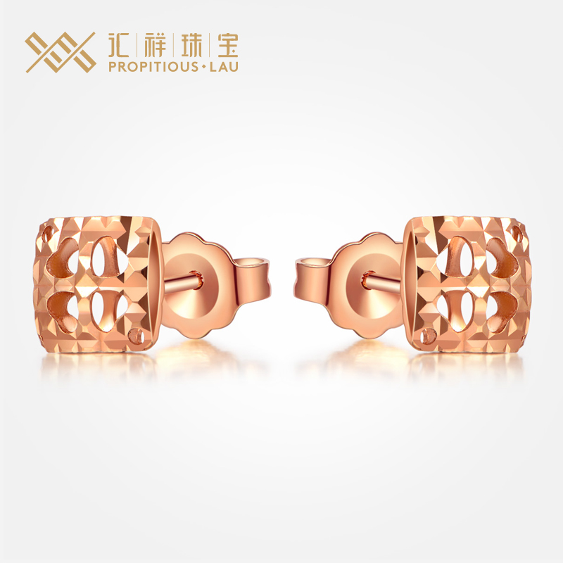 Department of cheung explosion models jewelry k gold rose gold earrings female models fashion earrings love new girlfriend gift