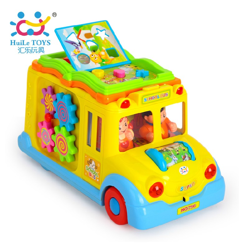 Department of music 796 intellectual campus bus children's educational truck toys for children 1-3 years old