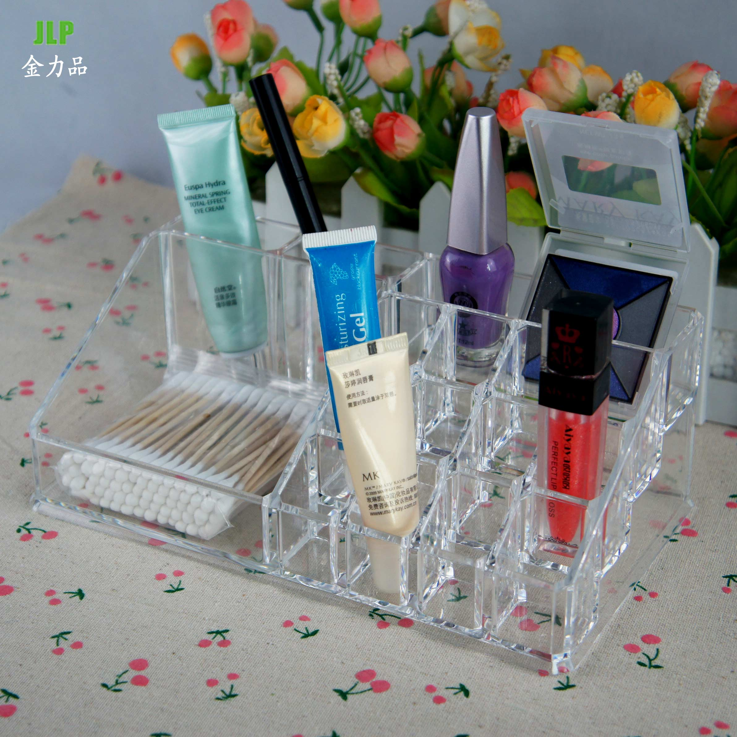 Desktop makeup cosmetic storage box jewelry box creative transparent dressing lipstick lipstick display stand