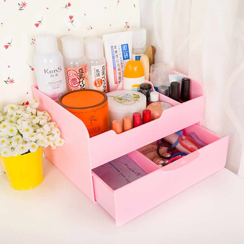 Desktop storage box drawer cosmetic storage rack bathroom shelf with drawer storage box cosmetic box