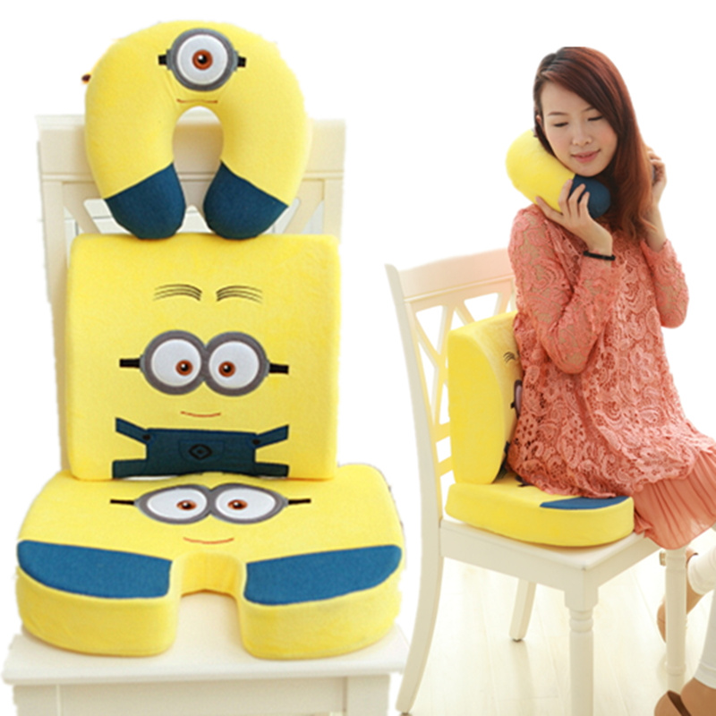 Despicable me 2 small yellow man pillow cushion air conditioning is memory foam cushion pillow neck pillow type u