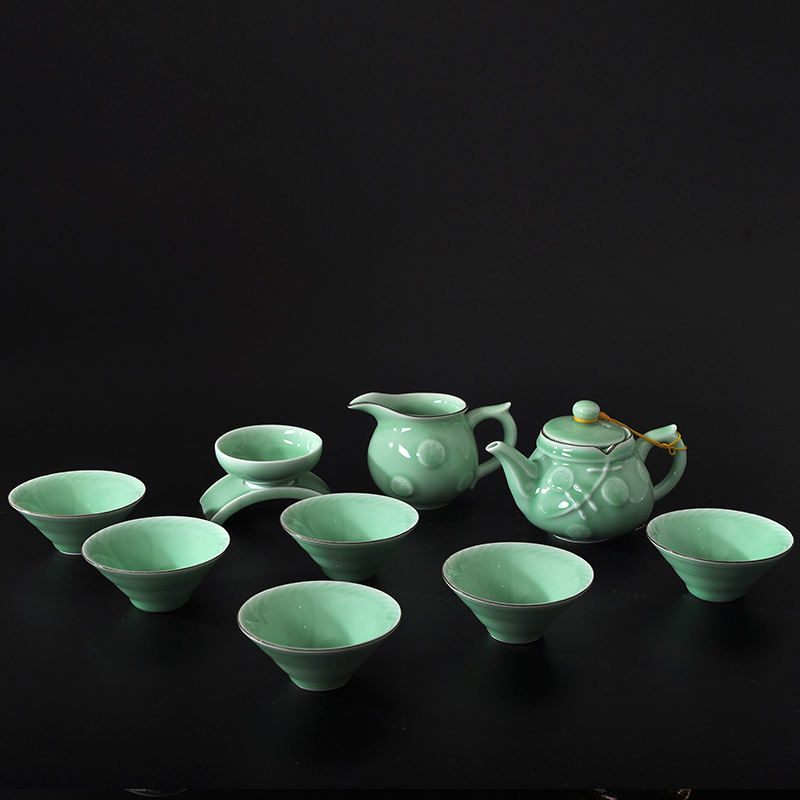 Dh-71 cerntrifugal household celadon tea set kung fu tea special package jingdezhen ceramic tea set porcelain tea cup teapot drinkware