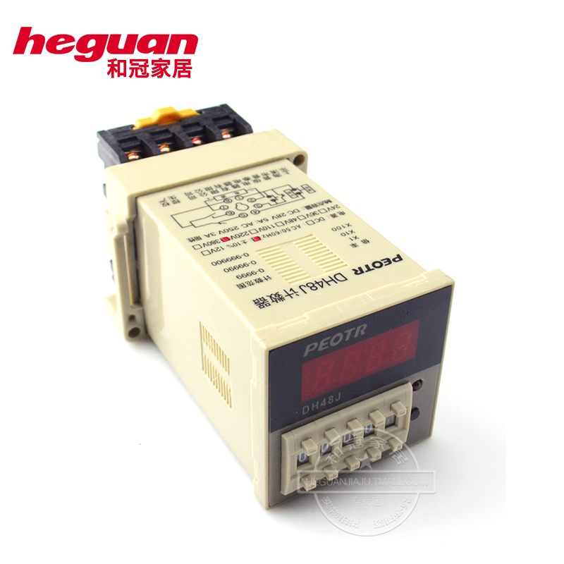 Dh48j digital electronic counter counter counter time relay 12 v 24 v 220 v electrical peotr puzheng