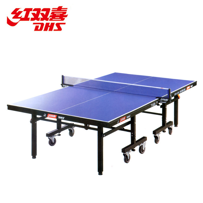 Dhs dhs table tennis table t1223 single folding mobile tables pool table tennis