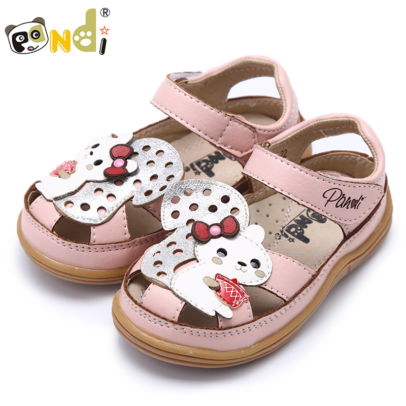 Di fat panda shoes 2016 spring new korean princess shoes girls sandals children's sandals tide shipping