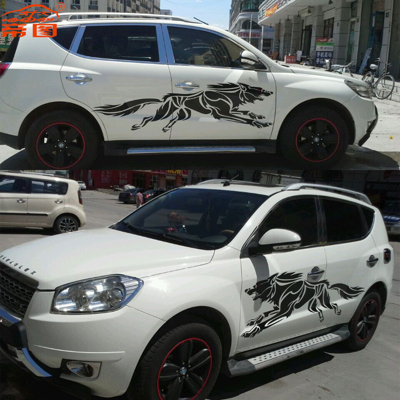 Di figure langtou wolf totem whole car stickers car stickers car stickers garland hood of car stickers affixed general