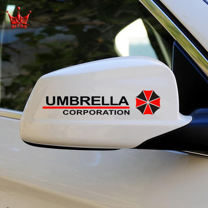 Di figure umbrella resident evil car stickers rearview mirror stickers personalized car stickers reflective car stickers decorative stickers scratch