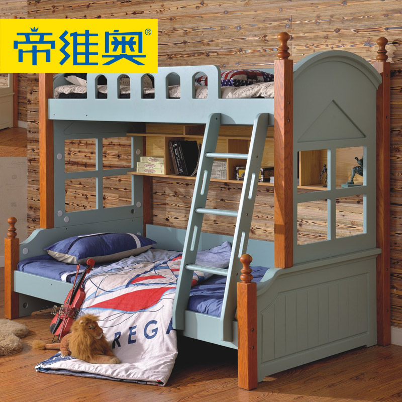 Di livio mediterranean wood bed children bed bunk bed picture bed bed bunk bed adult bunk bed combination furniture