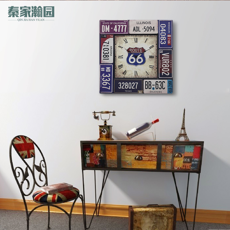 Di po fashion decorative wall creative home accessories american vintage wrought iron bar cafe decorative wall hangings by the