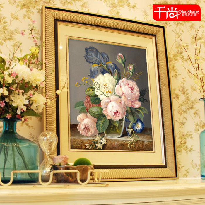 Diamond vase painting series mouthwatering restaurant stitch diy diamond diamond embroidery painting party full of diamond drilling