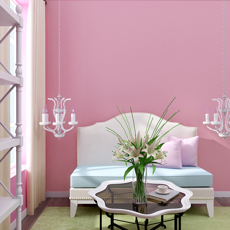 Get Quotations Diffe Degrees Of Pink Silk Wallpaper Pure Plain Minimalist Bedroom Living Room Background Warm