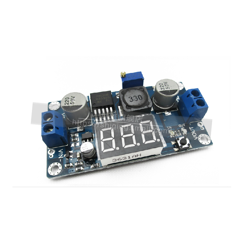 Digital display module lm2596s buck module dc-dc power adjustable power supply module with digital display