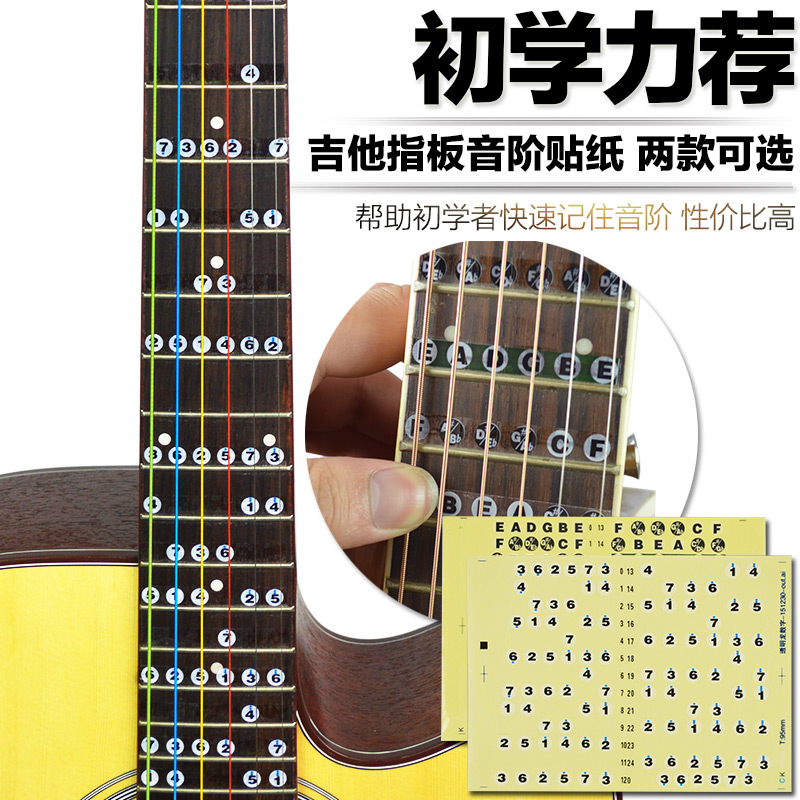 Digital roll call one octave fretboard stickers notation self beginner guitar tutorial guitar beginner guitar accessories stickers