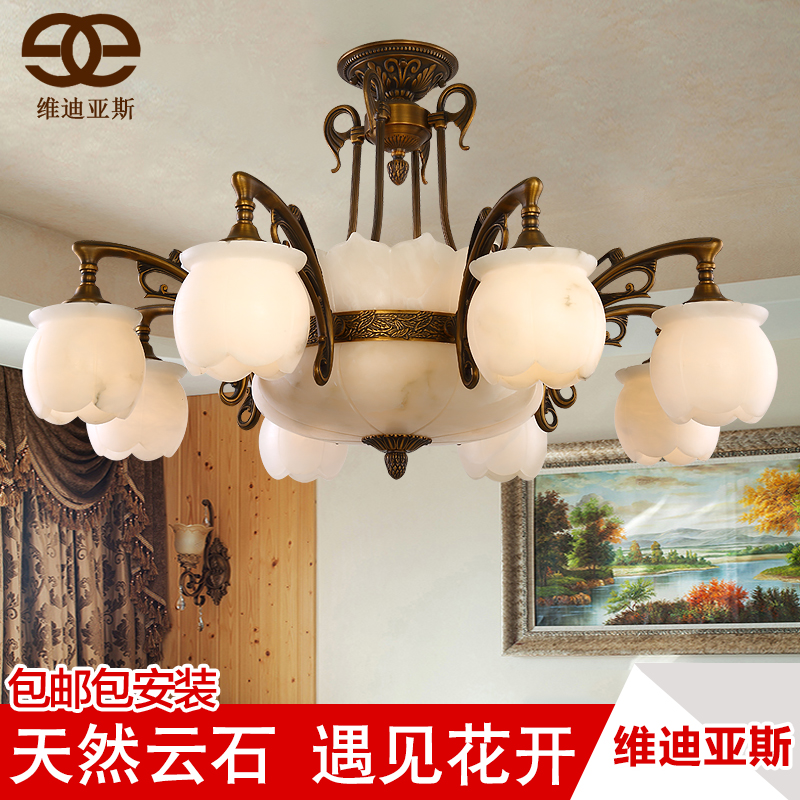 Dimentional díaz marble lamps copper lamps marble lamps full copper chandelier spanish natural marble lamps living room villa