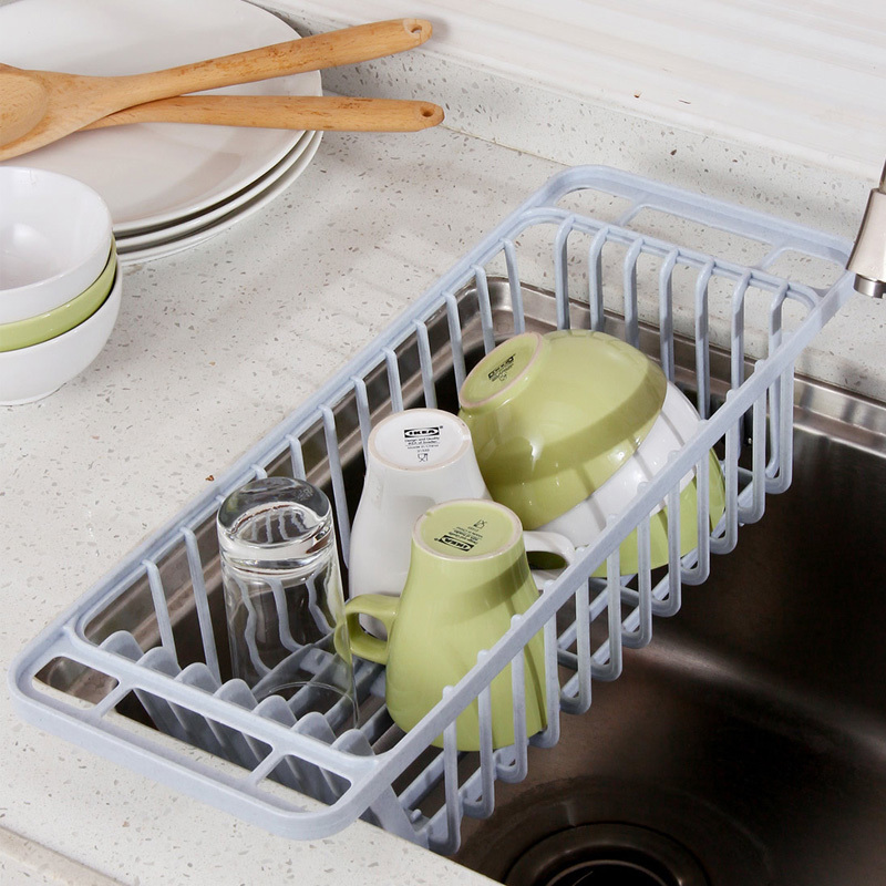 Dish rack to dry dishes drain rack dish rack sink drain basket drain vegetables plastic water filter basket creative kitchen shelving