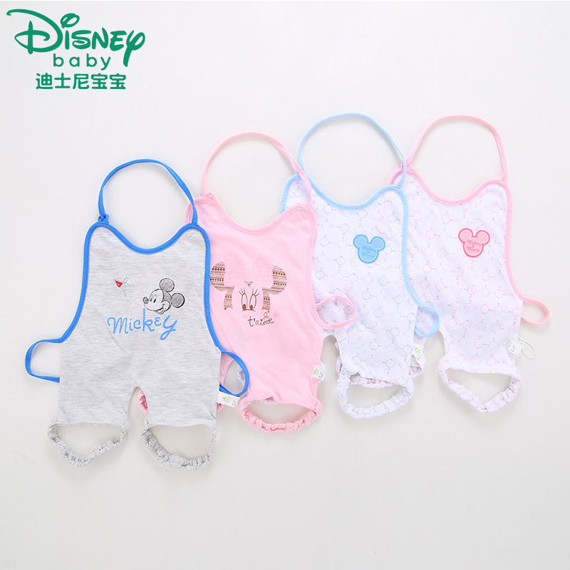 Disney baby male and female infants and young children cotton apron baby even leg apron summer newborn baby apron baby belly and thigh circumference summer