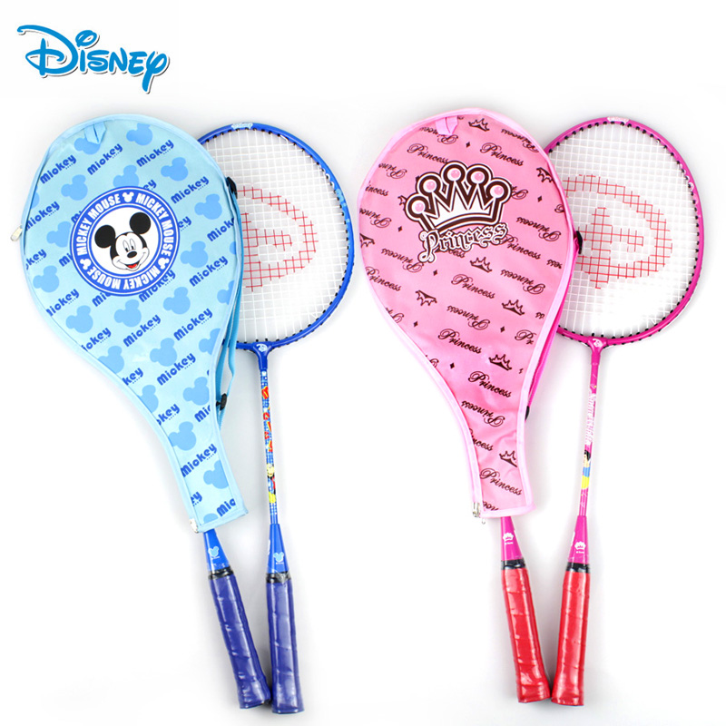 Disney cartoon baby boys and girls children badminton racket badminton racket one pair beat two students training racket 2 6只suit