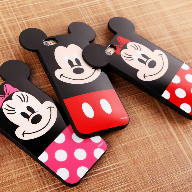 Disney cartoon mobile phone shell iphone6plus 5.5 apple six plus animation and creative protective sleeve meng