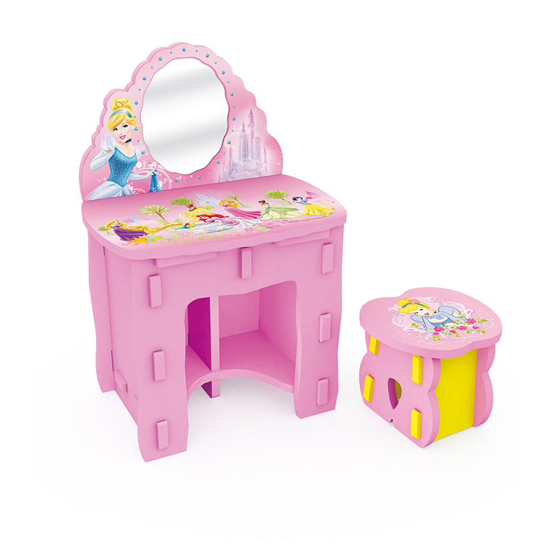 Disney children's princess dresser dressing table dressing table stool child children beauty makeup vanity table table