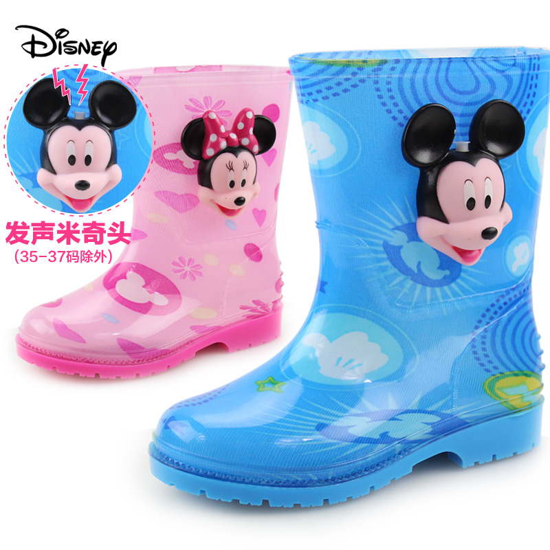 Disney children's rain boots wellies rain boots baby boys girls rain boots rain boots children slip rubber overshoes water shoes kids