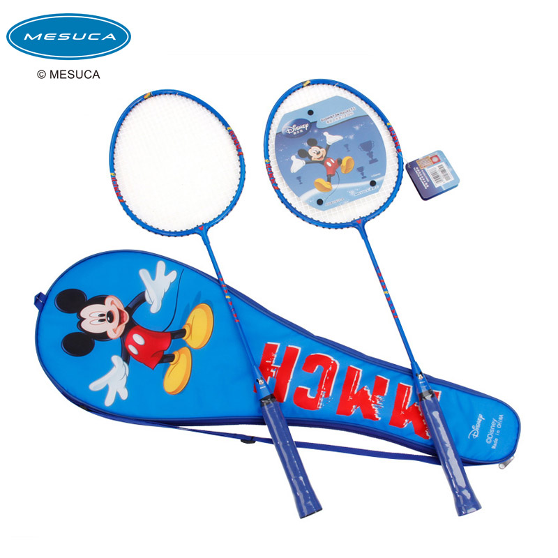 Disney disney children's badminton racket cartoon aluminum badminton racket two loaded shot gift sets 2 family pack