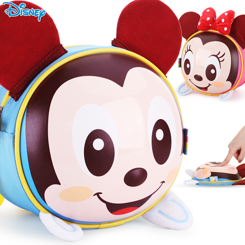 Disney mickey 3d early childhood snack bag purse messenger bag boys and girls children's cartoon bag shoulder bag