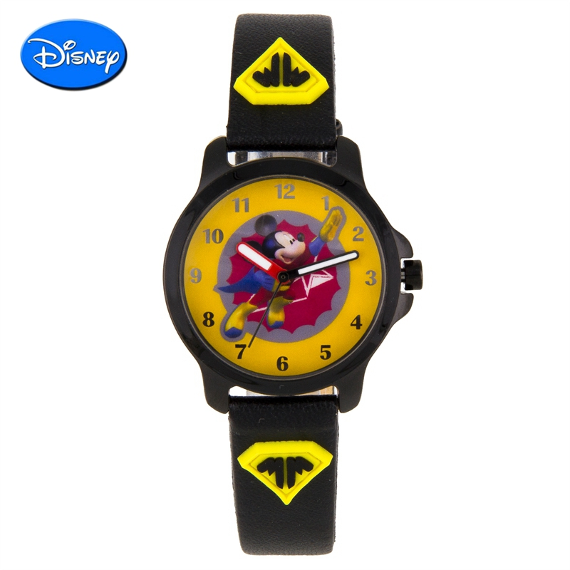Disney mickey cartoon boy watches table pointer quartz watch children watch students jelly watch boys