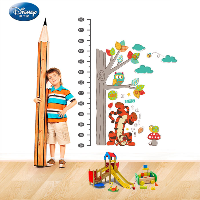 Disney nursery wall decor wall stickers children's room cartoon removable wall stickers painting winnie the pooh stickers measuring height