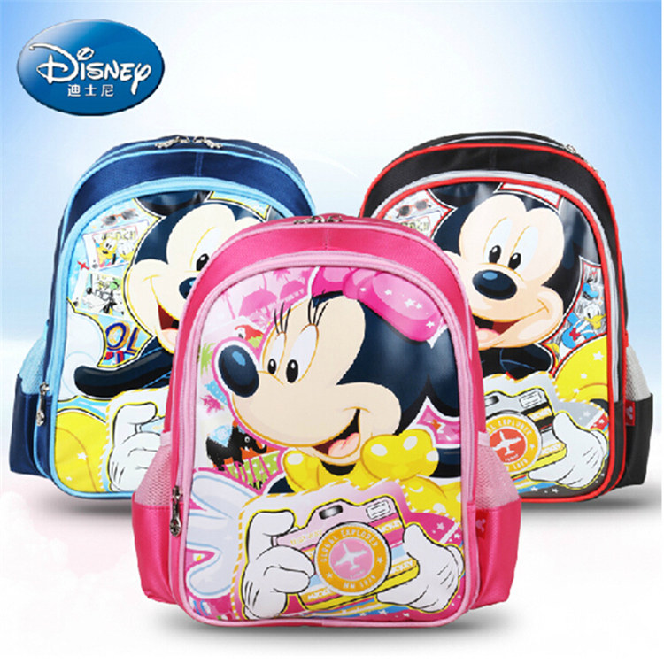 Disney schoolbag boys and girls grades mickey schoolbag bag for children by child backpack shoulder