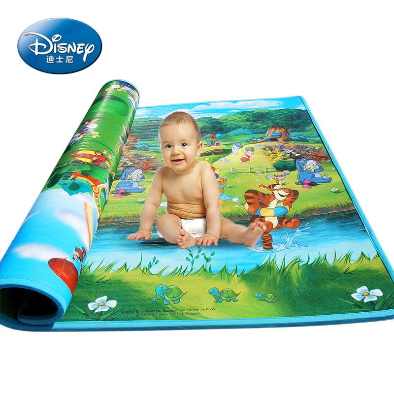 Disney sided baby crawling mat baby climb pad [2CM] moisture in autumn and winter thick foam insulation
