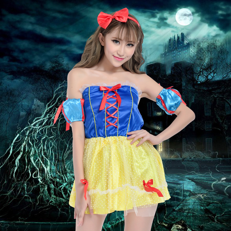 Disney snow white costume adult halloween costumes masquerade costumes male main skirt cosplay cos