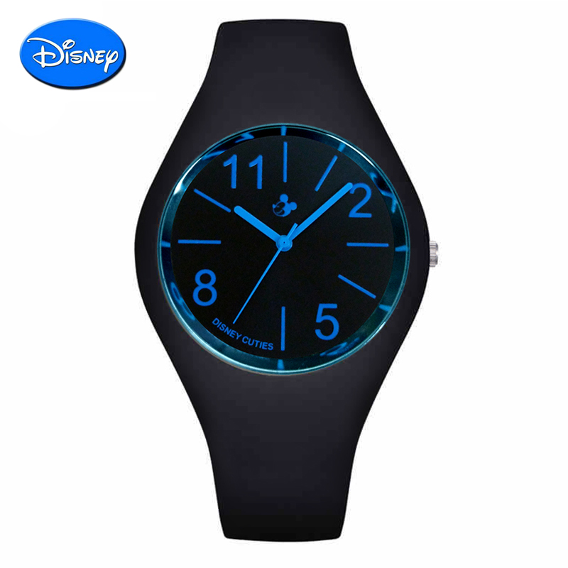 Disney sports watch male students watch children watch waterproof leather belt female fashion shi korean version of the british table jelly table