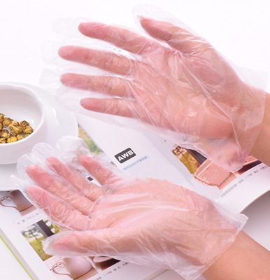 Disposable gloves plastic film gloves health gloves transparent food grade pe pe gloves gloves gloves beauty