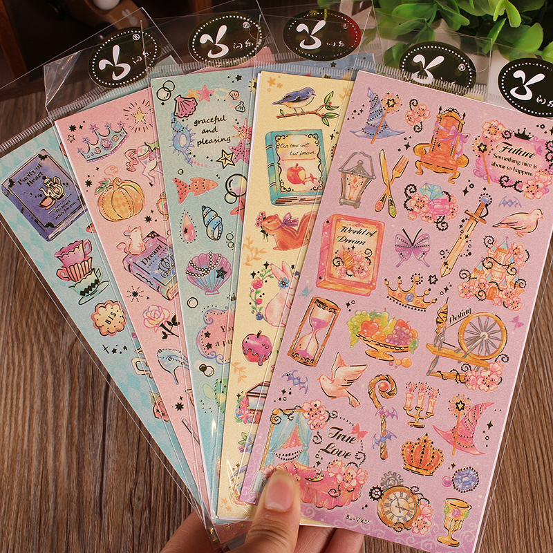 Diy album essential accessories handmade stickers bronzing korea life travel diary stickers affixed album album album accessories