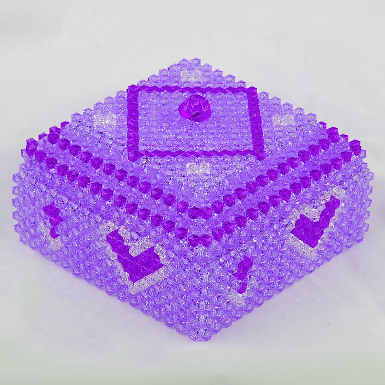 Diy beaded handicrafts material package of love shape generous box storage box square box jewelry box home decoration