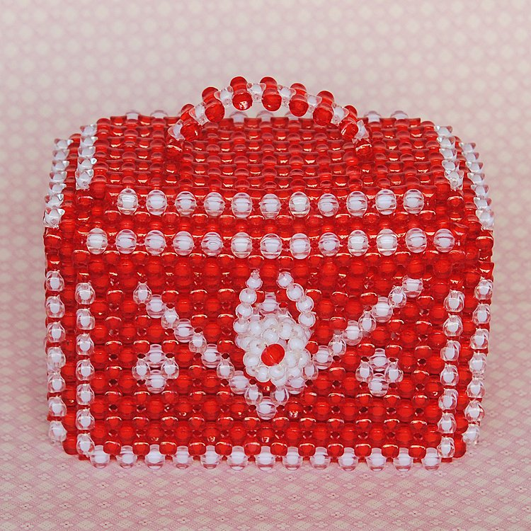 Diy handmade beaded jewelry treasure box storage box jewelry accessories material package large furniture ornaments decorations