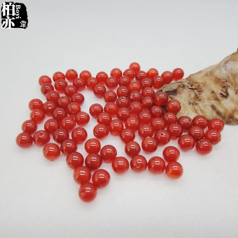 Diy handmade jewelry accessories woven material/4-20ma 12mm semifinished water crystal natural red agate beads scattered beads