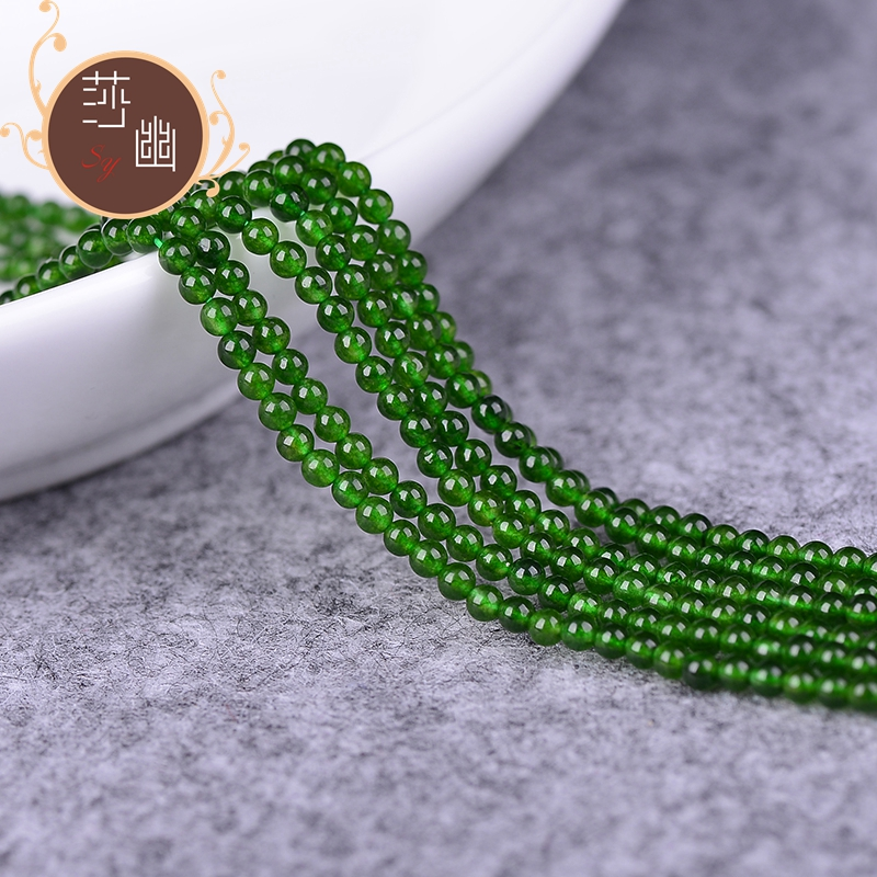 Diy natural crystal jewelry accessories diy 2mm taiwan jade semifinished loose beads flow su suizi sweater chain accessories