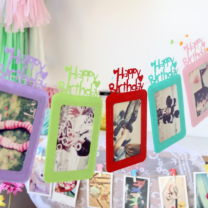 Do not weaving frame baby photo frame photo frame birthday hundred days birthday party dress 1 color children's room decor