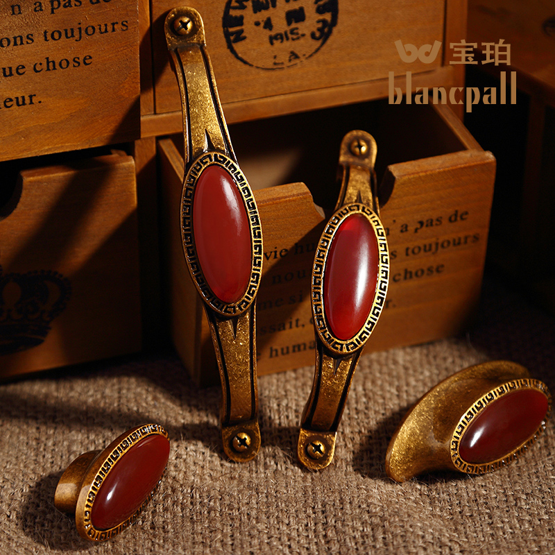 Document cd ceramic antique copper handle european furniture cabinet wardrobe door handles all copper wine cabinet drawer handle small