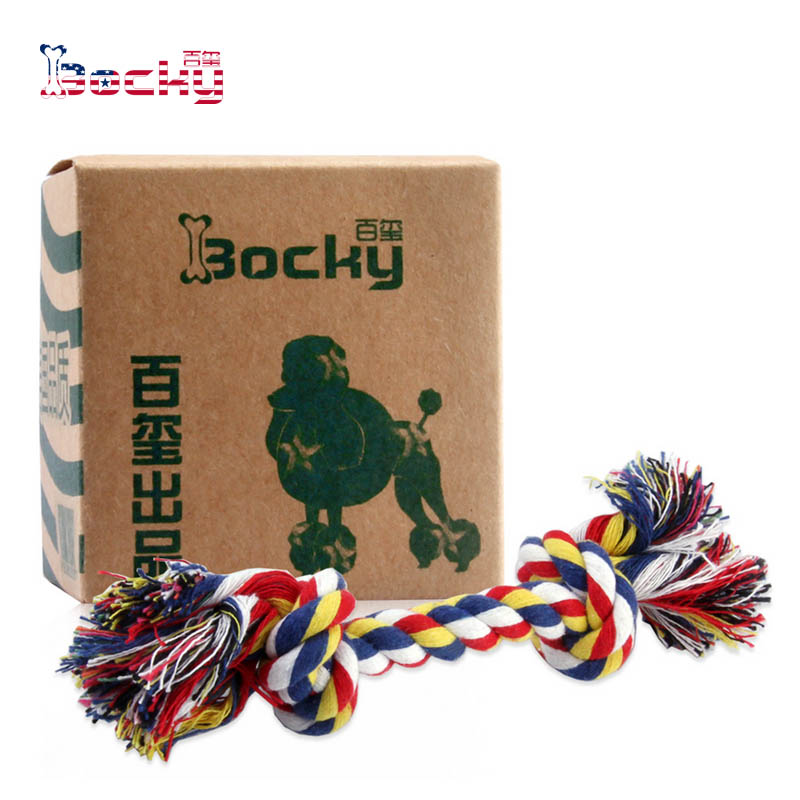 Dog toys pet toys cotton rope rope rope knot dog bites dog teeth bite bite resistant teddy expensive bienstock colorful rope 14 cm