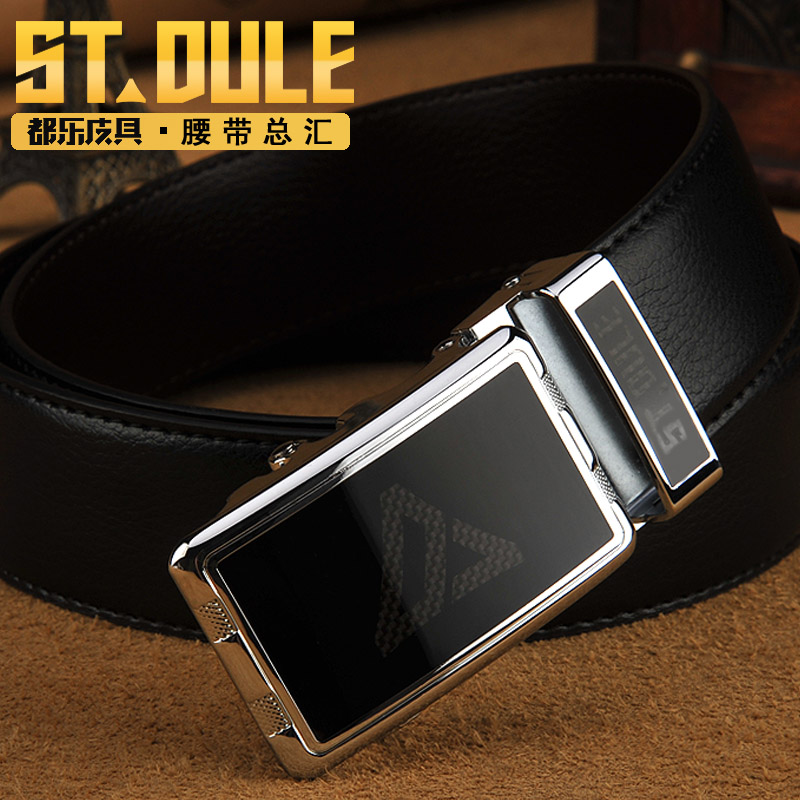Dole alloy belt buckle belt buckle young men's fashion genuine leather automatic buckle belt leather belt simple business elderly