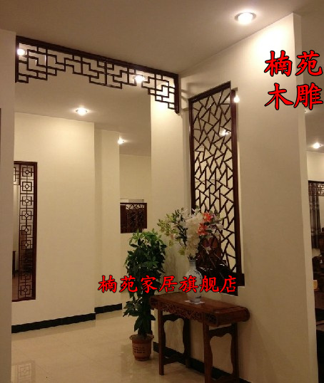 Dongyang wood carving antique chinese decoration hanging off the lintel pass aisle hollow wood grillwork门罩